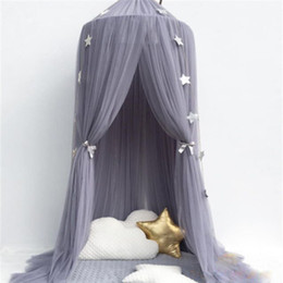 Curtains for Canopy beds online shopping - 4 Colors Hanging Kids Baby Bedding Dome Bed Canopy Cotton Mosquito Net Bedcover Curtain For Baby Kids Reading Playing Home Decor