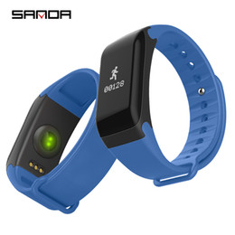 F1 Bluetooth Smart Watch NZ - SANDA F1 Smart Bracelets Blood Pressure Heart Monitor Smart Band Bluetooth Fitness Tracker Men Women Watch For Android IOS