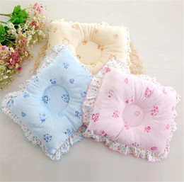anti flat head pillow baby Australia - 6 Colors Soft Cotton Position Baby Pillow Newborn Lovely Cartoon Newborn Baby Anti Flat Head Sleep Pillow with Lace