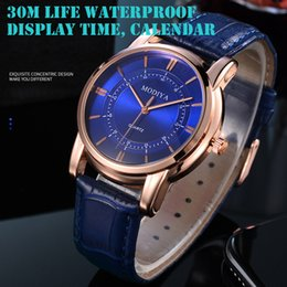 Male Fashion Suits Australia - Fashion Waterproof Leather Band Quartz Analog Wrist Watches Men's watch Wrist Party decoration suit Dress Watch gifts male man