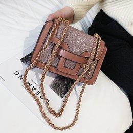 $enCountryForm.capitalKeyWord Australia - Luxury Sequin Women Bags brand PU Leather Handbags 2019 Luxury Designer Small Square Bags Ladies Chain Shoulder Messenger Bags