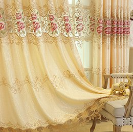 WindoWs european online shopping - European Luxury Curtains for Window Curtains Styles for Living Room Elegant Drapes European Embroidered