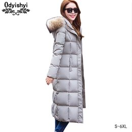 $enCountryForm.capitalKeyWord Australia - S-6XL Winter Thick Down Jacket Womens X-Long Fur collar Hooded Parkas Woman Coat 70% White Duck Down Warm Winter Outerwear HS332