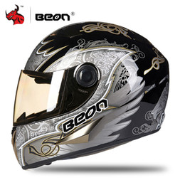 motorcycle helmets yellow color Australia - BEON Motorcycle Helmet Moto Motocross Helmet Full Face Motorbike Racing Casque Moto Casco Men Casque