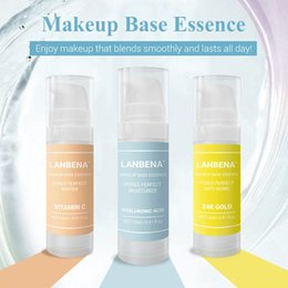 essence concealer Australia - Makeup Base Essence Makeup Primer Moisturizing Face Serum Shrink Pores Oil-control Brighten Foundation Skin Care Cosmetics Lanbena Brand