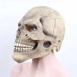 mask horror zombie Australia - Halloween Skull Funny Mask Men Women Kids Props Performing Masquerade Supplies Spoof Toys Zombie Horror Grimace Mask Headgear