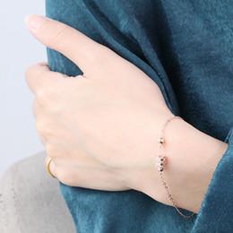Korean Rose Gold Accessories Australia - Korean Elegant S925 Sterling Silver Bracelet for Women Engagement Jewelry Charm Rose Gold Color Geometric Bracelet Accessories