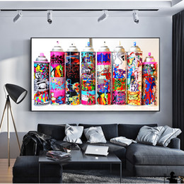 Painting Can Australia - 1 Pcs Graffiti Pop Art Spray Can Collection Wall Posters And Prints Colorful Graffiti Paint Bottle Decorative Pictures No Frame