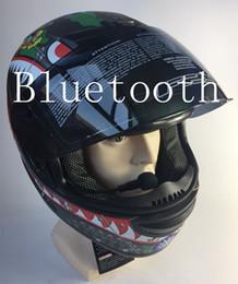 $enCountryForm.capitalKeyWord NZ - free shipping bluetooth helmet for phone motorcycle helmet full face racing helmets with sunny lens M L XL size