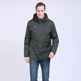 Wholesale padded windbreaker resale online – 2019 Men Spring Padded Jacket Windbreaker Casual Cotton Padded Coat Hooded Trench Coat Men Parka Windproof Outwear