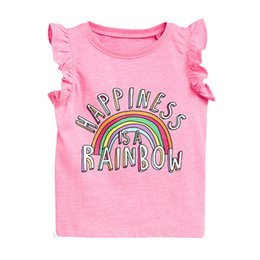 Chinese  New Fashion Unicorn Baby Girls T Shirts Cotton Short Sleeve Girls Summer Tops Children T Shirts Kids Tops manufacturers