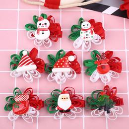 Delicate hair clips online shopping - Christmas Hair Clip Hairpins Delicate Hairdress Accessory Manual Santa Claus Festival Snowman Cute