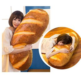 heart shaped plush NZ - 3D Plush Pillow Cushion Gift Soft Stuffed Backrest Toys Birthday Funny Simulated Snack Bread Shape For Children Home Decor Girl