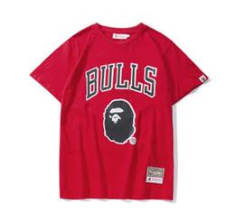 Großhandel 2019 Neue Sommer Liebhaber Brief Cartton Druck Rot T-shirts Männer Casual Rundhals Kurzarm Hip Hop T-Shirts