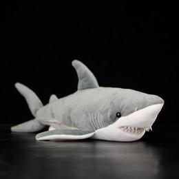 "$enCountryForm.capitalKeyWord Australia - 16"" Lifelike Great White Shark Stuffed Toy Soft Shark Plush Toys Simulation Ocean Animal Toy Christmas Gifts For Kids J190718"