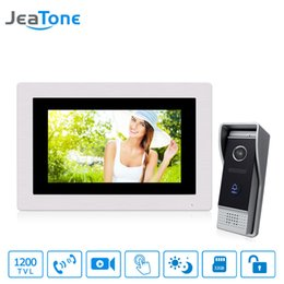 $enCountryForm.capitalKeyWord Australia - JeaTone 7 inch Touch Screen 4-Wired Video Door Phone Intercom Video Door Bell Home Security System Supported Motion Detection