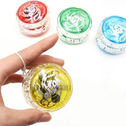 Wholesale New LED Flashing Yoyo Classic Kids Toys Professional Magic Yoyo Spin Aluminum Alloy Metal Yoyo Bearing with Spinning String