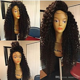 Kinky Curly Lace Front Cheap Australia - best lace front human hair wigs for black women kinky curly lace frontal wig cheap glueless full lace human hair wigs