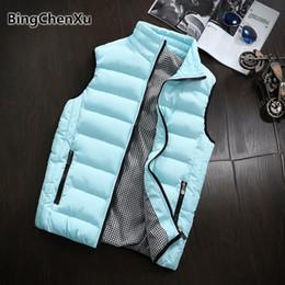 $enCountryForm.capitalKeyWord Australia - Men's Winter Vest Plus Size Sleeveless Motorcycle Jacket Thicken Waistcoat Windbreak Outwear Cotton-Padded Outdoors Vests 1398