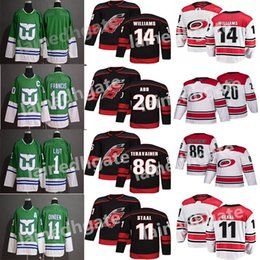 Chinese  2018-2019 Season Carolina Hurricanes20 Sebastian Aho 14 Justin Williams 86 Teuvo Teravainen 11 Staal Hockey Jerseys Men All Stitched Jerseys manufacturers