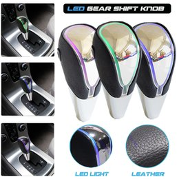Rav4 sensoR online shopping - Car Leather Touch Sensor LED Light discolor Gear Shift Knob Stick Lever For ES350 GS450h Camry Corolla RAV4 Scion