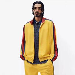 $enCountryForm.capitalKeyWord Australia - Box Logo Bonded Mesh Track Jacket Pants Sports Set Luxury Stitching Unisex Sweatshirt Casual Coat Tops Pants Fitness Tracksuit Hfymtz013