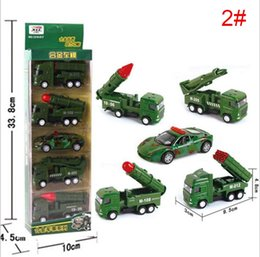 Wholesale Pull Back Toys Australia - Children's educational toys 1:64 Diecast Model Cars Pull Back Simulation alloy engineering vehicle military missile car color box set