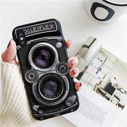 camera 5s UK - Coque Luxury Vintage Camera Cover for iPhone 11 Pro Xs Max Xr Case for iPhone 8 7 6s Plus 5S SE 5 Case Soft Silicone Cover.