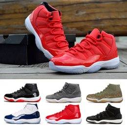 e0abd97bac23 Win Like 96 Gym Red 11s Grey Suede olive lux Brand 11 Mens Basketball Shoes  Athletic Sport Fashion Sneakers INFRARED 23 Trainers