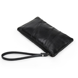$enCountryForm.capitalKeyWord Australia - Best selling designer luxury sheepskin wallet fashion stitching clutch leather ladies wild wrist bag long mobile phone purse