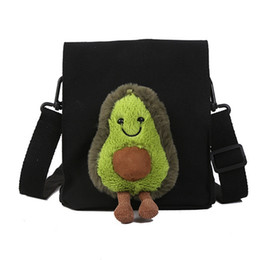 Funny coin purse online shopping - Cute Avocado Doll Crossbody Canvas Bag Funny Cartoon Student Mini Travel Shoulder Bag Coin Purse
