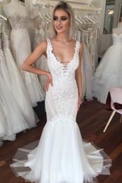 $enCountryForm.capitalKeyWord NZ - Exquisite Mermaid Wedding Dresses Boho Backless Country Bride Dress Arabic Middle East Modest Wedding Gowns Slim robes de mariée sirène 2019