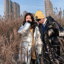 $enCountryForm.capitalKeyWord Australia - Silver Bright Parka Couple Winter Long Jacket Men Fashion Zipper Hooded Cotton Parka Men Thick Jacket for Hip-hop Male Coats