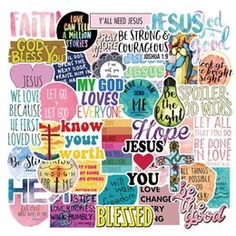 AnimAl crossing stickers online shopping - 50Pcs Jesus Faith Cross Christian Stickers Pack Skateboard Notebook Luggage Decals Luggage Car Bottle Waterproof Stickers