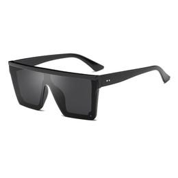 Discount modern sunglasses - new modern stylish men sunglasses flat top square designer glasses for women fashion vintage sunglass oculos de sol