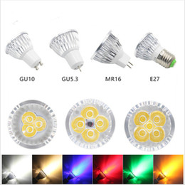 Blue spotlight BulBs online shopping - High power Dimmable Led Bulb Lamp GU10 MR16 E27 E14 Led Light Spotlight led bulb downlight lamps Spot light