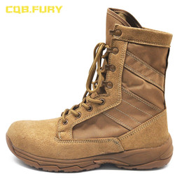 $enCountryForm.capitalKeyWord Australia - CQB.FURY 8 inches Winter brown Mens Army boots tactical Cow suede comfortable outdoor boots with side zipper size38-46