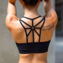 Women mesh vest online shopping - 2019Summer women sport Bras mesh shape yoga running sport black push up vest top
