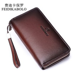 Brown Bag Price Australia - Feidikabolo Luxury Male Leather Purse Men's Clutch Wallets Men Brown Dollar Price Handy Bags Business Carteras Mujer Wallets Y19052104