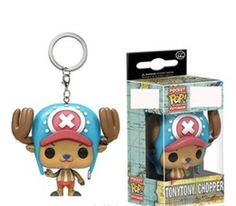 one piece chopper figures UK - Funko Pocket POP Keychain - One Piece chopper cartoon Vinyl Figure Keyring keychain with Box Toy Gift Good Quality Free Shipping