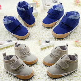 $enCountryForm.capitalKeyWord Australia - Newborn Baby Boys Solid color Baby Kids Ankle Canvas Shoes High Crib Short Boots Soft Sole Toddler Infant First walker