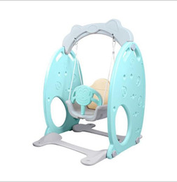 Conjoined swing Small indoor playground for family babies Kindergarten Children's Plastic Swing Rocking chair for children indoor amusement on Sale