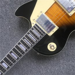 $enCountryForm.capitalKeyWord Australia - High quality hand-made electric guitar, dark sunburst maple top electric guitar with Ebony Fingerboard, free shipping, 01