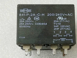 $enCountryForm.capitalKeyWord Australia - Free shipping(2pieces lot)Original New SONG CHUAN 841-P-2A-C-H 841-P-2A-C-H-200 240VAC 6PINS 25A 240v Power Relay