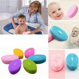 Man tools online shopping - Silicone Baby Bath Brush Shower in Face and Body Cleaning Wash Brushes Skin Shower Tool for Baby Men and Women Cleaning tool FFA3265