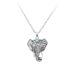 thailand necklaces Australia - Ethnic Style European And American Fashion Wild Necklace Thailand Imitation Retro Elephant Head Clavicle Chain