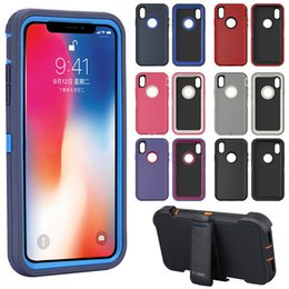 Huawei rubber cases online shopping - 3 in Rubber Hybrid Heavy Defend Shockproof Full Coverage Case Cover for iPhone X XS Max XR Samsung S10 with Clip