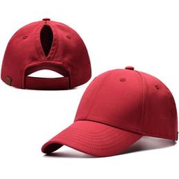 Chinese  2019 Women's Ponytail Baseball Caps Snapback Hat Trucker Ponycaps Plain Hats manufacturers