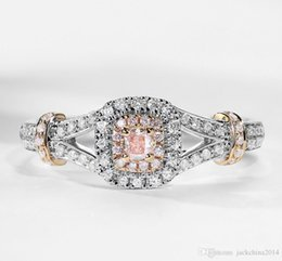 Gold Pink Rings For Women Australia - Victoria Wieck choucong Brand New Luxury Jewelry 925 Sterling Silver Pink Sapphire CZ Diamond Party Gold Filled Wedding Ring for Women Gift