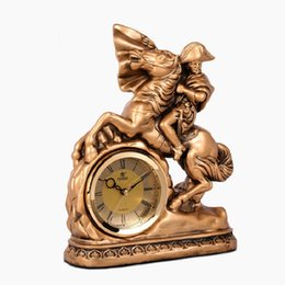arts crafts clocks Australia - Clock and craft clock imitation copper mute creativity living room desk art christmas decorations for home